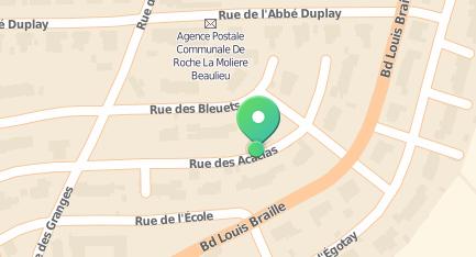 Plan de situation (Google Maps) Réflexologie plantaire